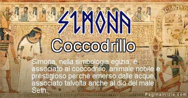 Simona - Significato in egiziano del nome Simona