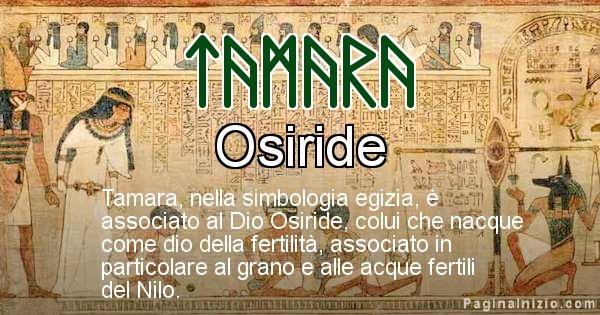 Tamara - Significato in egiziano del nome Tamara