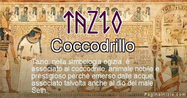 Tazio - Significato in egiziano del nome Tazio