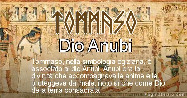 Tommaso - Significato in egiziano del nome Tommaso