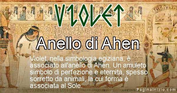 Violet - Significato in egiziano del nome Violet