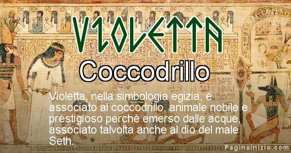 Violetta - Significato in egiziano del nome Violetta