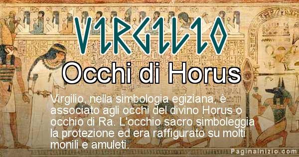 Virgilio - Significato in egiziano del nome Virgilio