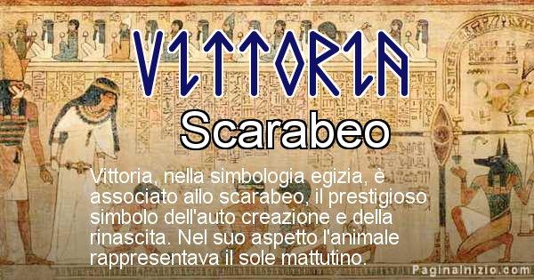 Vittoria - Significato in egiziano del nome Vittoria
