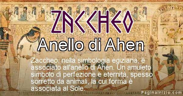 Zaccheo - Significato in egiziano del nome Zaccheo