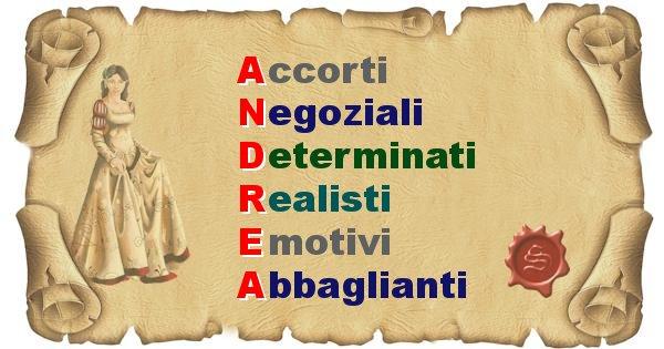 Andrea - Significato letterale Cognome Andrea