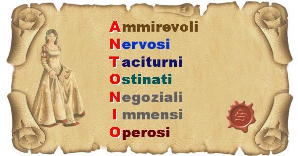 Antonio - Significato letterale Cognome Antonio