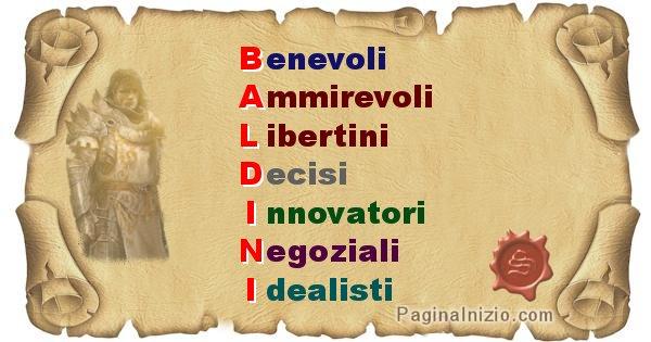 Baldini - Significato letterale Cognome Baldini
