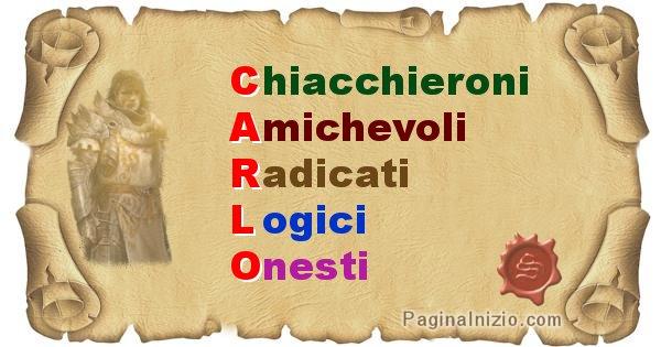 Carlo - Significato letterale Cognome Carlo