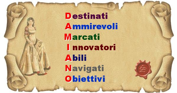 Damiano - Significato letterale Cognome Damiano