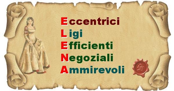 Elena - Significato letterale Cognome Elena