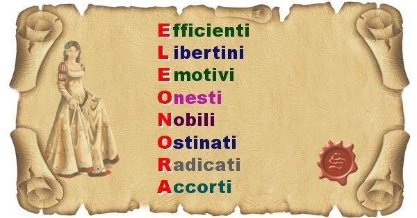 Eleonora - Significato letterale Cognome Eleonora