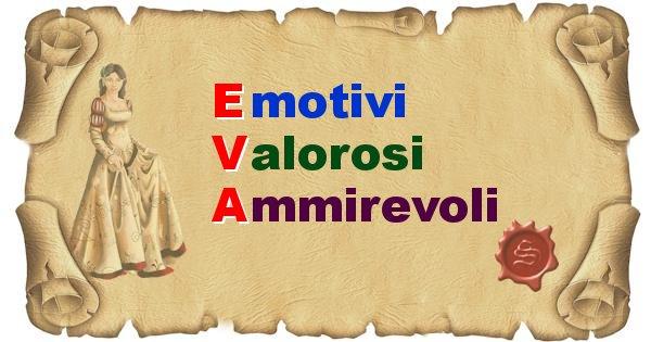 Eva - Significato letterale Cognome Eva