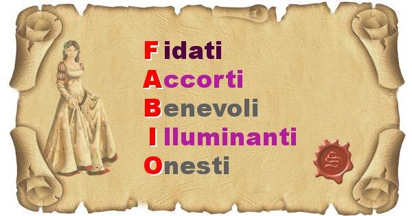 Fabio - Significato letterale Cognome Fabio