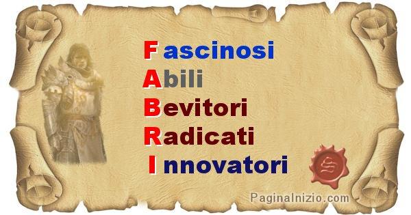 Fabri - Significato letterale Cognome Fabri