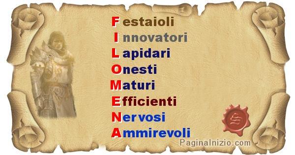 Filomena - Significato letterale Cognome Filomena