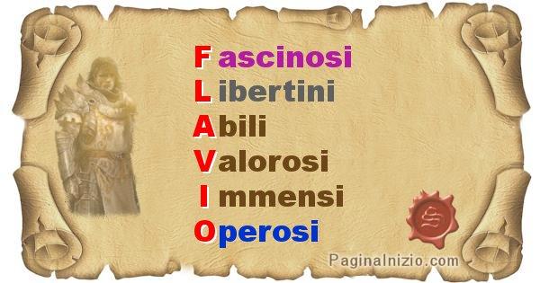 Flavio - Significato letterale Cognome Flavio