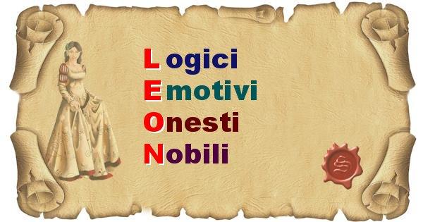 Leon - Significato letterale Cognome Leon