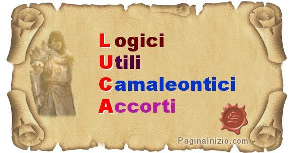 Luca - Significato letterale Cognome Luca