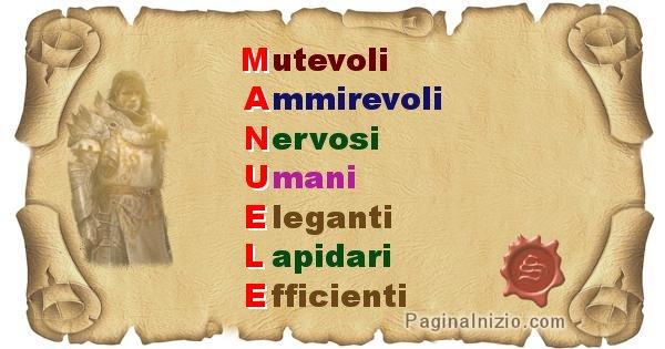 Manuele - Significato letterale Cognome Manuele