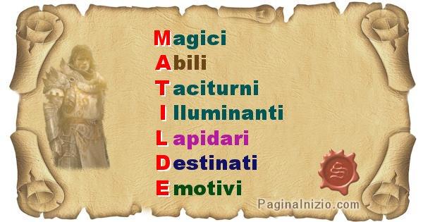 Matilde - Significato letterale Cognome Matilde