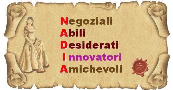 Nadia - Significato letterale Cognome Nadia