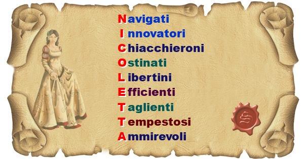 Nicoletta - Significato letterale Cognome Nicoletta
