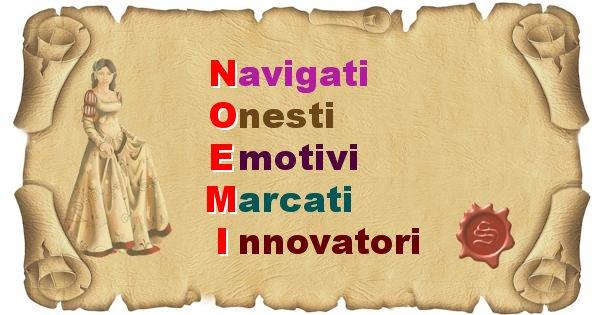 Noemi - Significato letterale Cognome Noemi