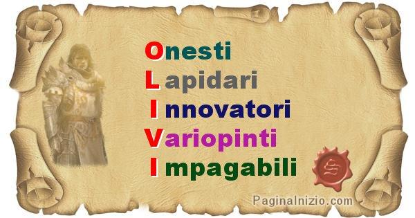 Olivi - Significato letterale Cognome Olivi