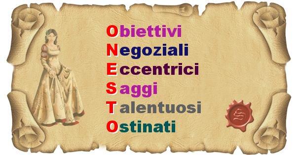 Onesto - Significato letterale Cognome Onesto