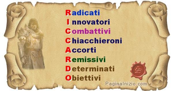 Riccardo - Significato letterale Cognome Riccardo