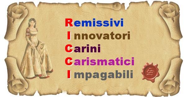 Ricci - Significato letterale Cognome Ricci