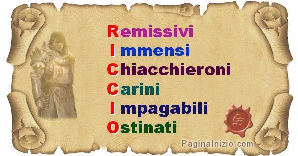 Riccio - Significato letterale Cognome Riccio