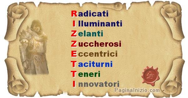 Rizzetti - Significato letterale Cognome Rizzetti