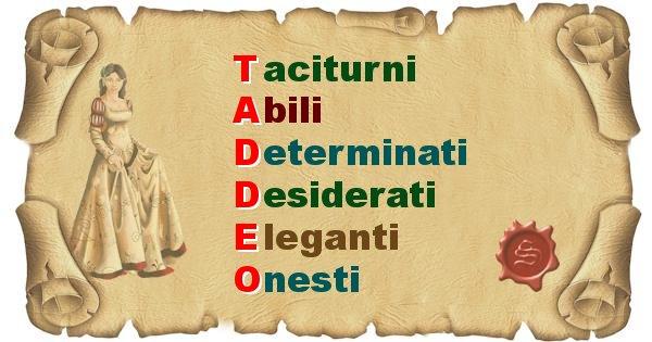 Taddeo - Significato letterale Cognome Taddeo