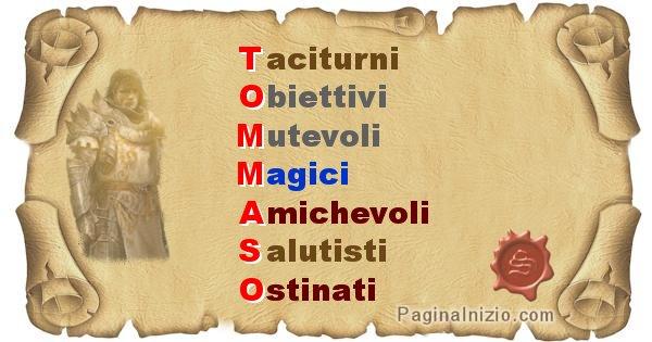 Tommaso - Significato letterale Cognome Tommaso