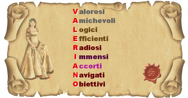 Valeriano - Significato letterale Cognome Valeriano