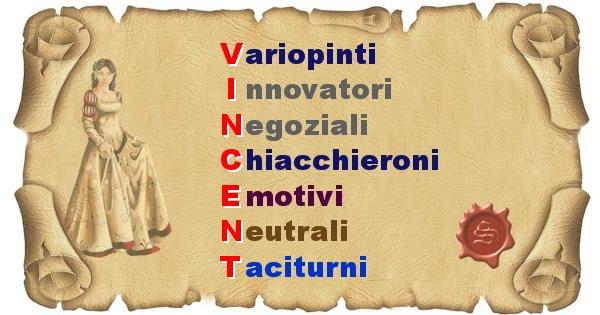 Vincent - Significato letterale Cognome Vincent