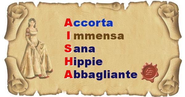 Aisha - Significato letterale del nome Aisha