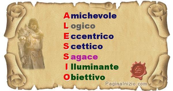 Alessio - Significato letterale del nome Alessio