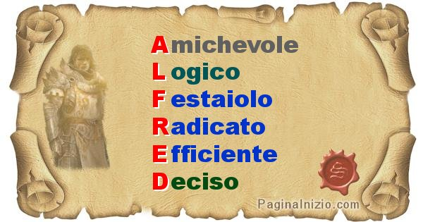 Alfred - Significato letterale del nome Alfred