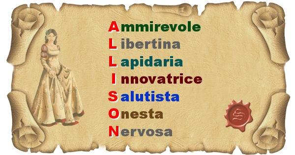 Allison - Significato letterale del nome Allison