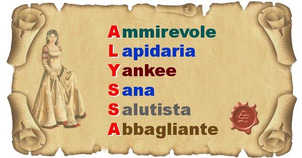 Alyssa - Significato letterale del nome Alyssa