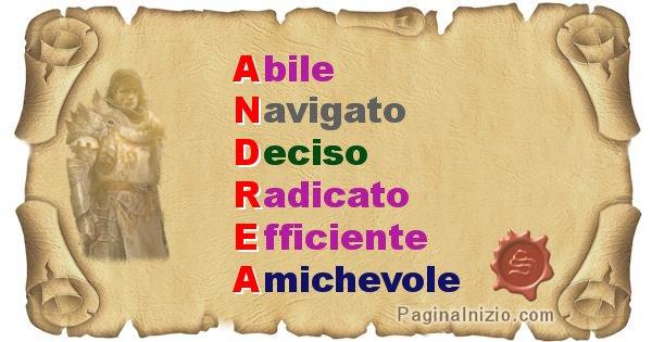 Andrea - Significato letterale del nome Andrea