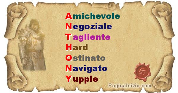 Anthony - Significato letterale del nome Anthony