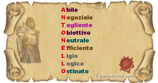 Antonello - Significato letterale del nome Antonello