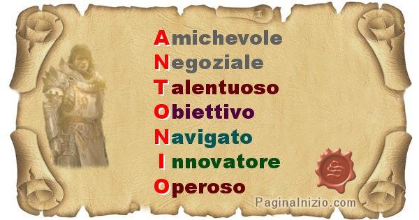 Antonio - Significato letterale del nome Antonio