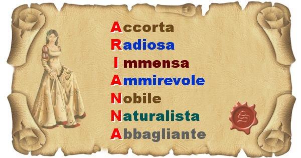 Arianna - Significato letterale del nome Arianna