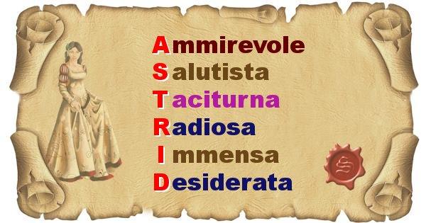 Astrid - Significato letterale del nome Astrid