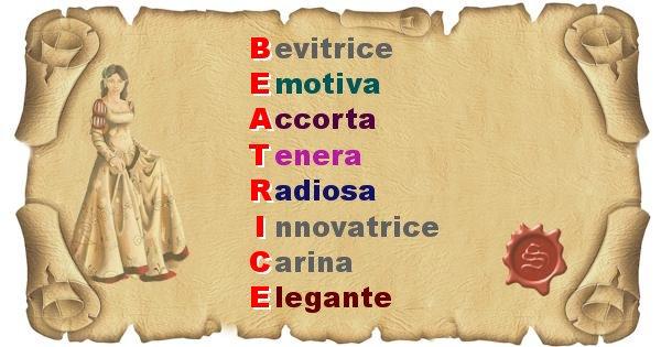 Beatrice - Significato letterale del nome Beatrice
